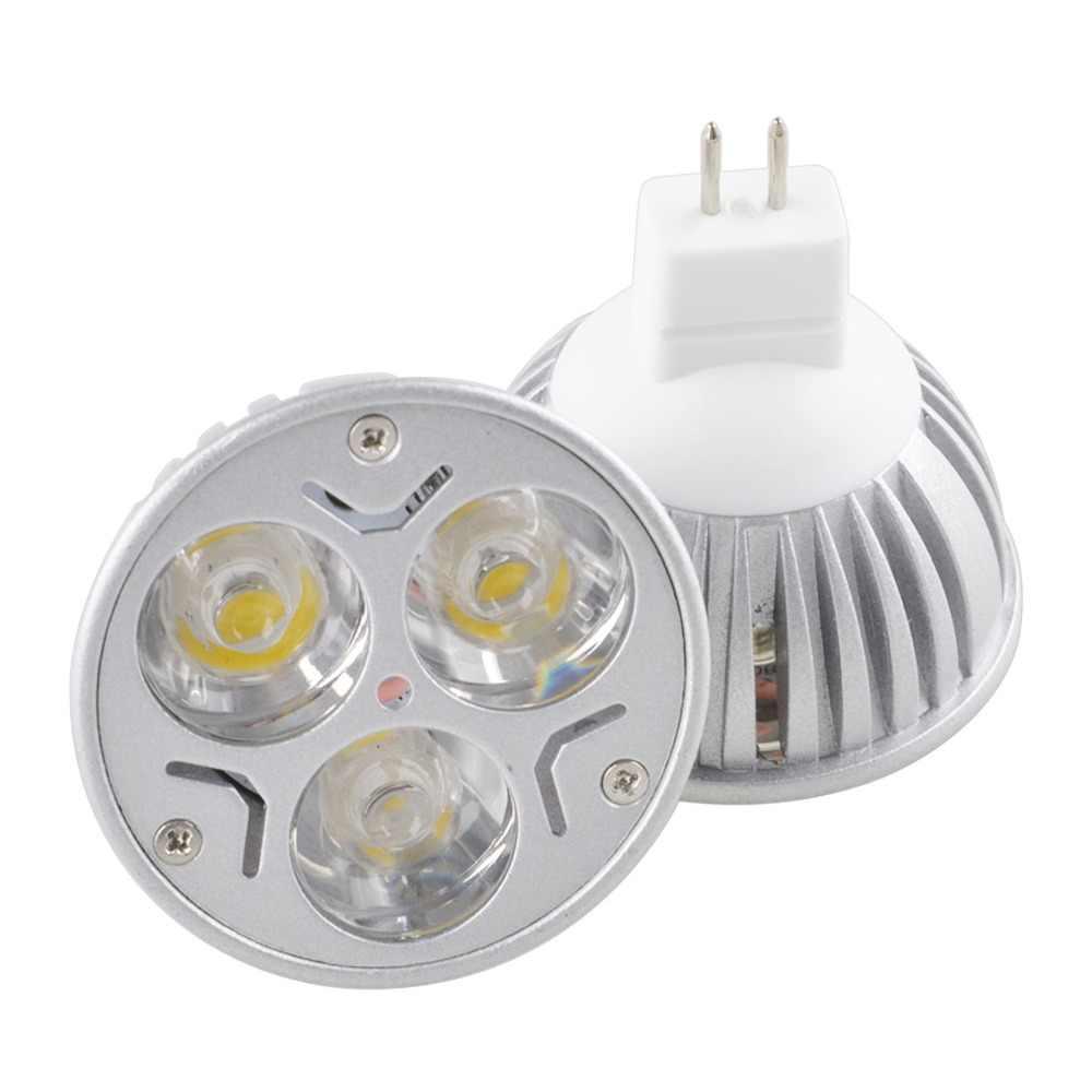 Big Promotion MR16 3 LED Energy Saving Spotlight Down Light Home Lamp Bulb DC12V White/Warm White/Pure White/Red/Yellow/Blue/Gre