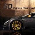"""Car Styling 50x200 cm 19.7 """"x 78.7"""" alto Brillo 5D Etiqueta Engomada de la Fibra de Carbono Película del Vinilo de la Burbuja de Aire Libre de La Motocicleta Del Coche Cubiertas de Coche Automático"""