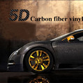 "Car Styling 50x200cm 19.7""x78.7"" High Gloss 5D Car Sticker Carbon Fiber Vinyl Film Air Free Bubble Motorcycle Auto Car Covers"