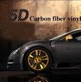 """Estilo do carro 50x200 cm 19.7 """"x 78.7"""" High Gloss 5D Etiqueta Do Carro Filme de Vinil Fibra de Carbono Livre de Bolhas de Ar Da Motocicleta Capas de Carro Auto"""