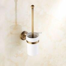 ملحقات الحمام فرشاة المرحاض حامل الحائط الكلاسيكية العتيقة الانتهاء النمط الأوروبي مرحاض تنظيف فرشاة ZR2400
