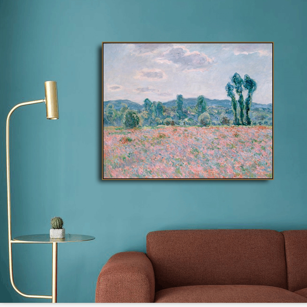 Poppy field by Cezanne Canvas Painting Calligraphy Poster Prints Living Room House Wall Art Painting Home Decoration Picture in Painting Calligraphy from Home Garden