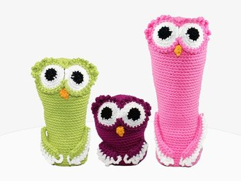crochet armigurumi  rattle  owl family  model number  897