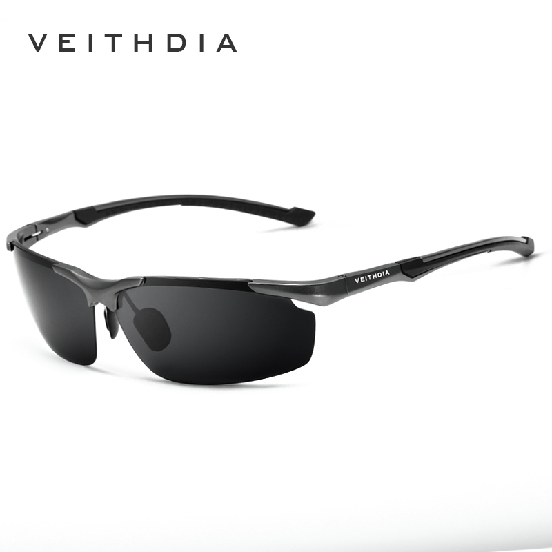 VEITHDIA Herren Sonnenbrille Polarisiert Sport Pilot UV400 Grau 6592 5yKVUA