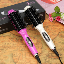 2-In-1 Comb Hair straightener Curling Iron Multifunctional Fast Rotating Ceramic Electric Straightening brush New Styling Curler