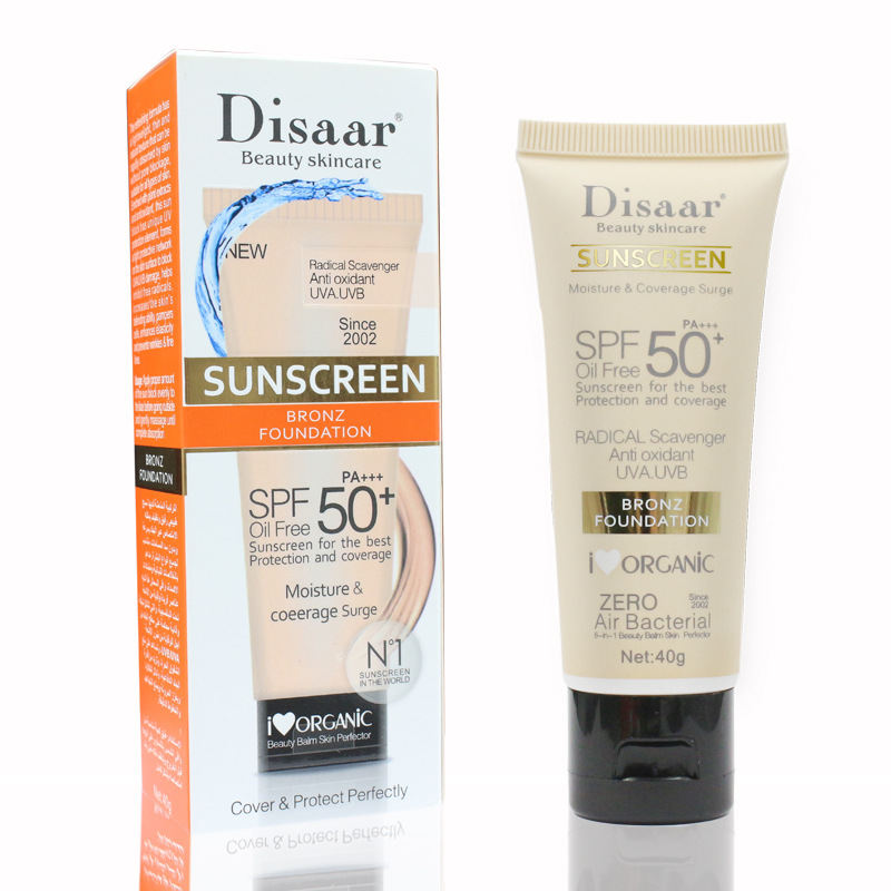 Disaar Facial Body Sunscreen Cream Sunblock Moisturizing SPF 50 Face Skin Care 3 Pieces Sunblock