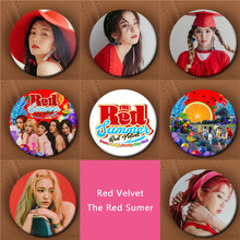 Youpop KPOP Korean Red Velvet 2017 New Album The Red Summer 58mm Round Badge Pins And Brooches For Clothes Hat Backpack(China)