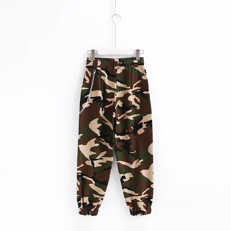 Woman high waist pants loose trousers joggers women camouflage sweatpants street wear 21