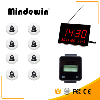 Mindewin New restaurant Wireless picker digital display that can display four sets of data+Multifunction touch Watch+Key