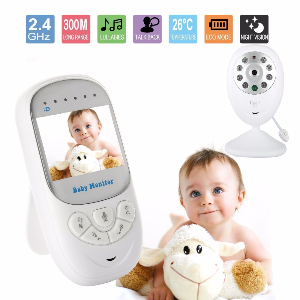Babykam video nanny baby monitor for newborns 2.4 inch IR Night Vision Lullabies Temperature Monitor Zoom radio nanny electronic