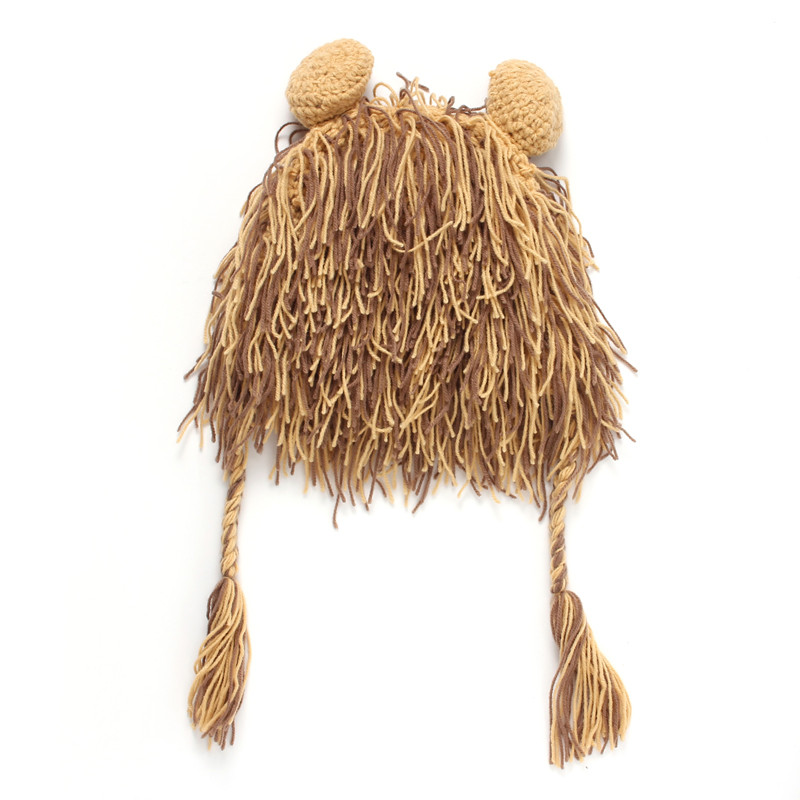Boy Girl Wig Beard Hats Hobo Mad Scientist Rasta Caveman Handmade Winter Warm earflap Caps Gift Funny Party Lion Beanies