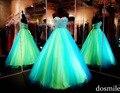 Novo 2016 princesa doce 16 Quinceanera vestidos cristais frisado mangas Prom Formal vestidos para adolescentes de