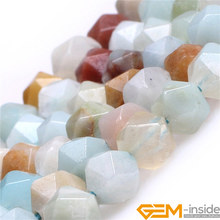 6mm 8mm 10mm 12mm AAA Grade Faceted Multicolor Amazonite Beads Natural Stone DIY Loose Bead For Cambay Jewelry Making