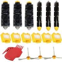 16pcs Set Filters Pack Bristle Brush Flexible Beater Brush 3 Armed Side Brush Kit For IRobot