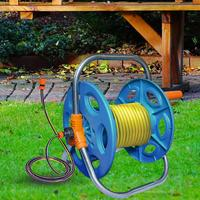 Anti Abrasion Household Garden Water Hose Holder Reel Cart Hose Storage Rack Frame