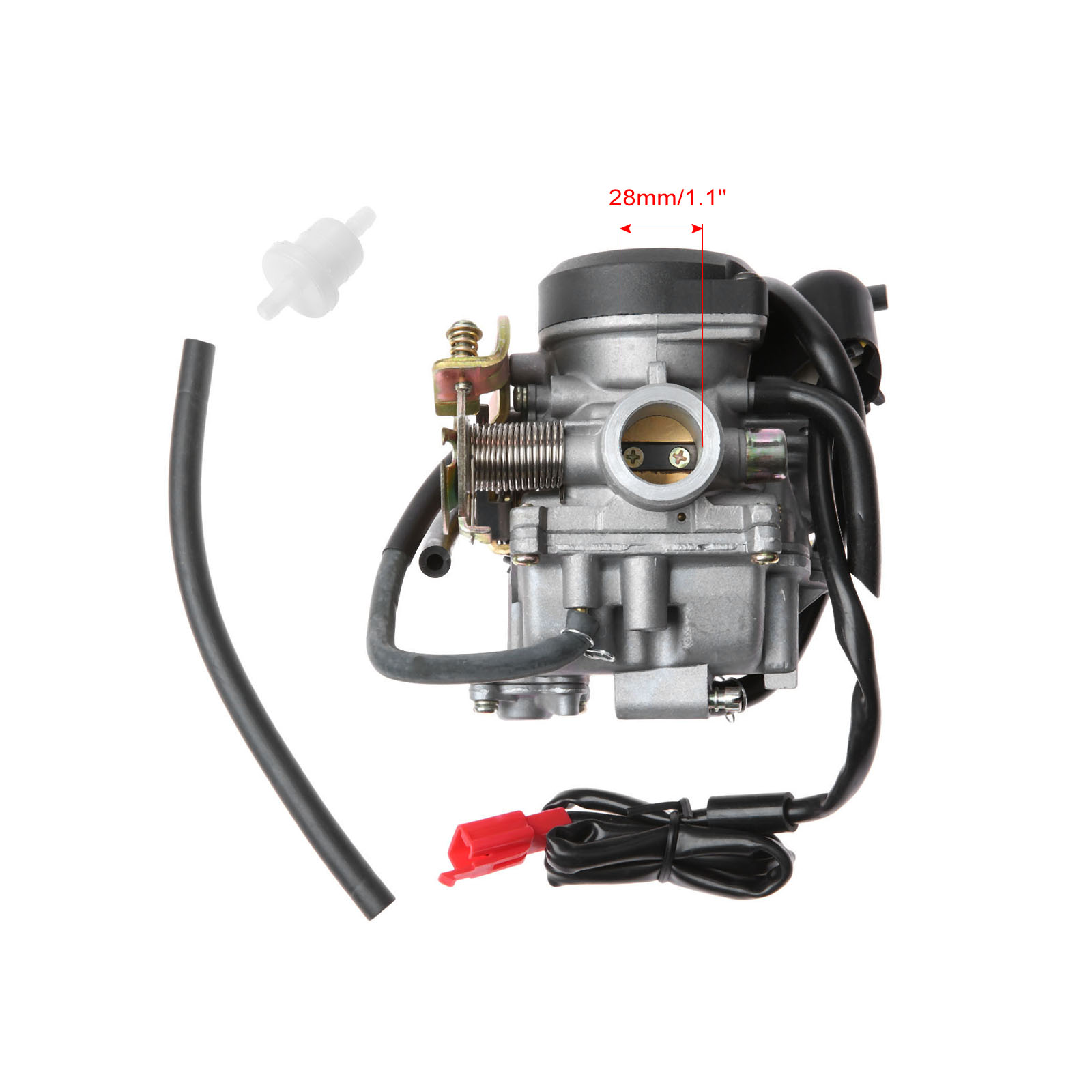 Motorcycle Carburetor 28mm Carb For 4 Stroke GY6 49cc 50cc Engine Electric Choke ATV Dirt Bike Pit Bike Carburador Carburateur original 26mm mikuni carburetor for cbt125 cb125t cbt250 ca250 carburador de moto