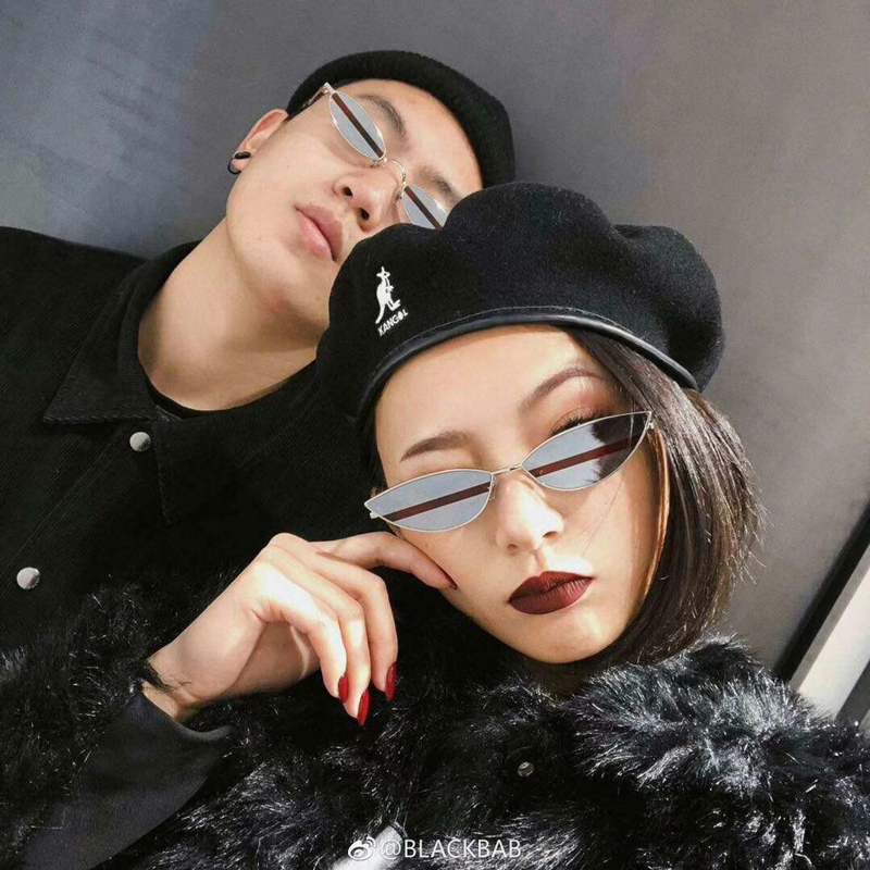 GUVIVI Cat Eye Sunglasses Women Fashion Color Matching Sun Glasses Vintage Metal Frame Eyeglasses Female Shade UV400 Oculos