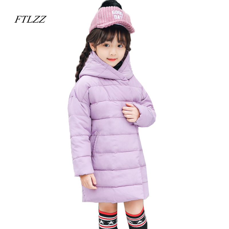 New Girls Padded Jacket Children Autumn Winter Coat Kids Warm Thickening Hooded Down Cotton Coats For Teenage Parkas Outwear 2017 new solid winter jacket women hooded coat cotton padded parkas long warm sweat girls cold outwear female down jacket m 3xl