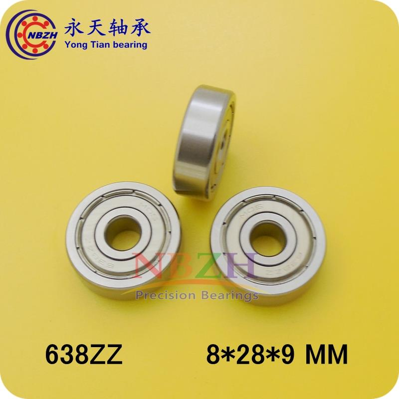 10pcs/lot Factory direct sale 638 638ZZ 638Z 638-2Z 80038 8*28*9 mm High quality deep groove ball bearing дайва торнадо z 3 0 8 28