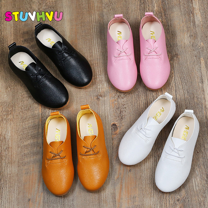 Spring and autumn new children shoes casual girls boys fashion wedding party leather shoes comfortable soft flat bottom shoes 26 spring and autumn paragraph new women leather fashion large size women flat shoes casual comfortable soft bottom driving shoes