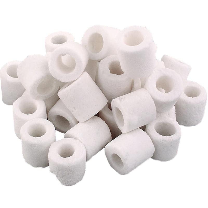 Ryby akwariowe filtr zbiornika materiał, filtracja biochemiczna, ceramika poryzowana pierścień, materiał filtracyjny do oczyszczania wody.