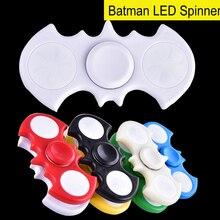 2017 летучая мышь светодиодной вспышкой из легкой руки Spinner Tri-Spinner анти-стресс сенсорная Непоседа Spinner мяч для взрослых Детские игрушки TL074
