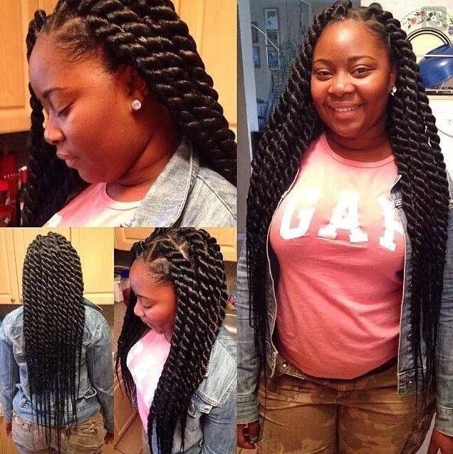 Hot Havana Twist Braids Crochet Hair 100 Kanekalon Colorful Ebony Soft Dread Lock Synthetic
