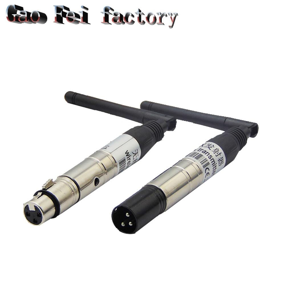 2.4G Ism Dmx 512 sans fil mâle Xlr émetteur lumière d'étape Par partie lumière antenne émetteur sans fil Dmx récepteur