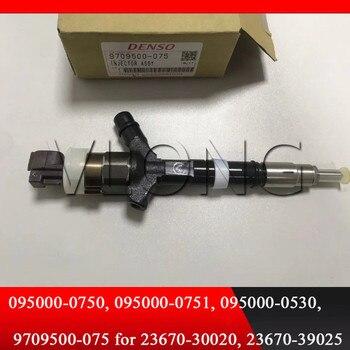 אמיתי ו חדש לגמרי דיזל דלק INJECTOR 095000-0750 095000-0751 עבור 23670-39025 23670-30020