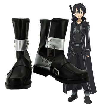 Anime Sword Art Online Kirigaya Kazuto/Kirito Cosplay Shoes Black Boots Custom Made - DISCOUNT ITEM  10% OFF All Category