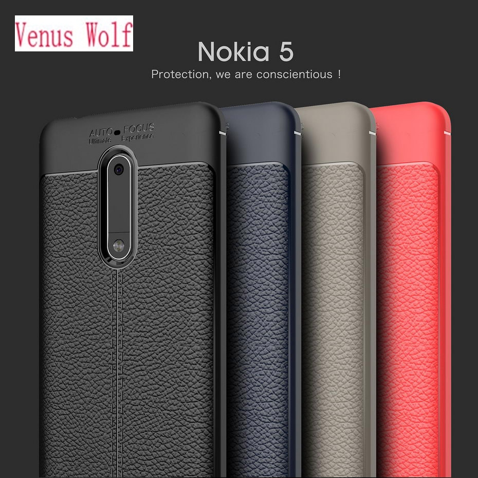 Silicone PU Phone Case for Nokia 5 <font><b>TA</b></font>-<font><b>1053</b></font> <font><b>TA</b></font>-1024 <font><b>TA</b></font>-1008 Fitted Case Soft TPU Cover for Nokia5 <font><b>TA</b></font> <font><b>1053</b></font> 1024 1008 Striae Case image