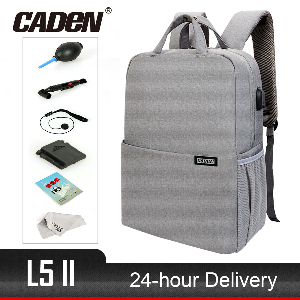 Hot CADeN L5II Anti-theft DSLR Camera Bag Backpack Multifunction Travel Outdoor Waterproof Tablet Laptop Bag for Sony Canon