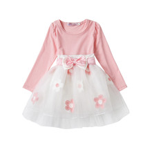 Baby Girl Long Sleeve Autumn Dress Sweet Baby Newborn Clothes  18 Months 2 Years Anniversary Toddler Infant Christening Pink