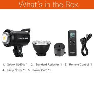 Image 2 - Godox SL 60W 60Ws 5600 לבן גרסת LED וידאו אור סטודיו רציף מנורת עבור מצלמה DV למצלמות SL 60W