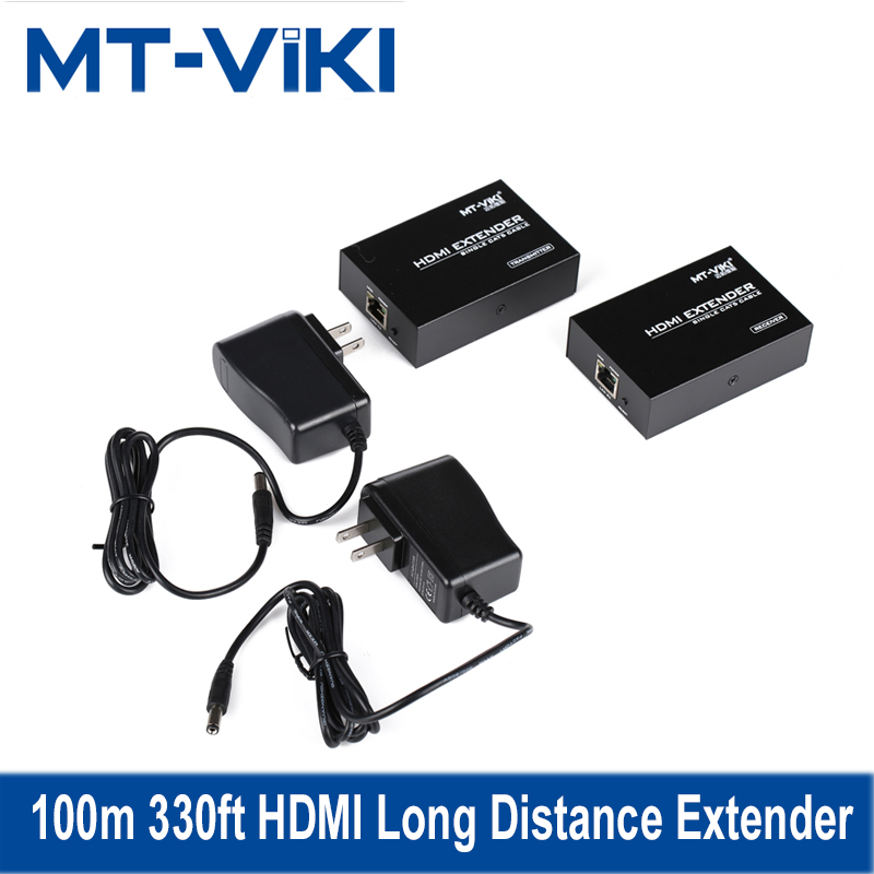 MT-VIKI 100m 330ft HDMI Long Distance Extender over CAT RJ45 LAN Cable 1.4 Extension Repeater MT-ED06 80 channels hdmi to dvb t modulator hdmi extender over coaxial