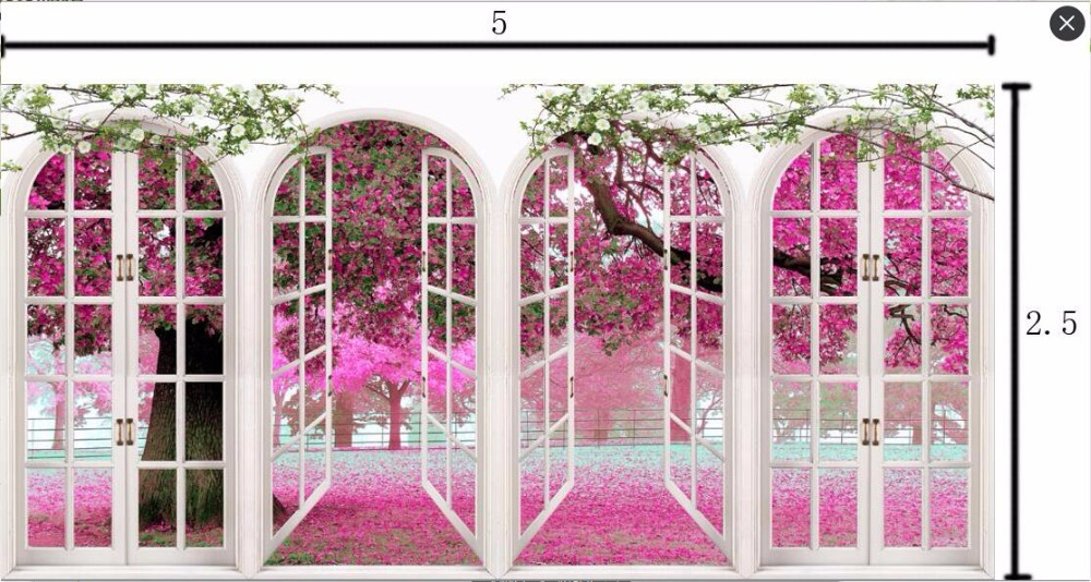 500X250cm Vinyl pink flowers photography backdrop backgrounds for wedding photo studio portrait photography backdrops props