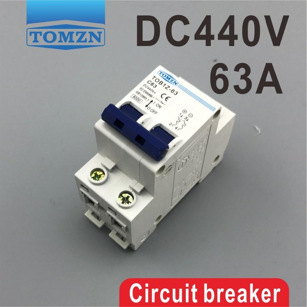 2P 63A DC 440V Circuit breaker MCB2P 63A DC 440V Circuit breaker MCB