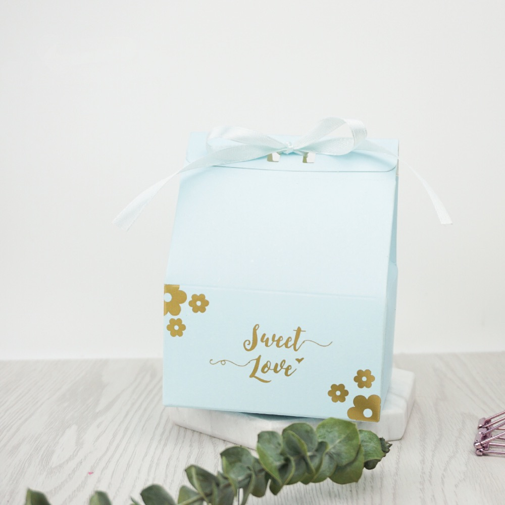 30pcs New sky Blue / Pink flower large sweet love Candy Boxes ...