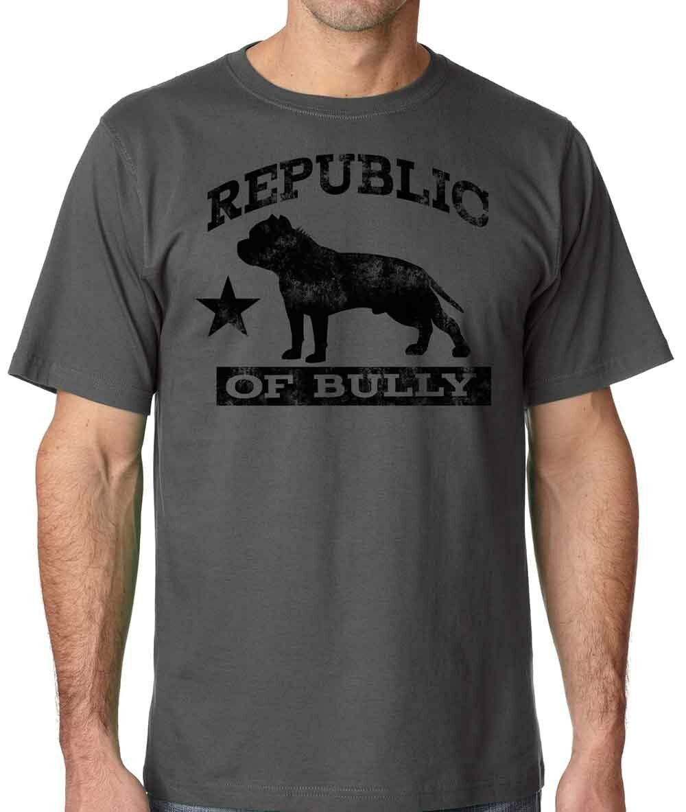 Republic of Bully Mens <font><b>Pit</b></font> <font><b>Bull</b></font> <font><b>Shirt</b></font> Bully 2019 Summer New Arrvial Summer Style Fashion Men T <font><b>Shirts</b></font> Funny Tee <font><b>Shirts</b></font> image