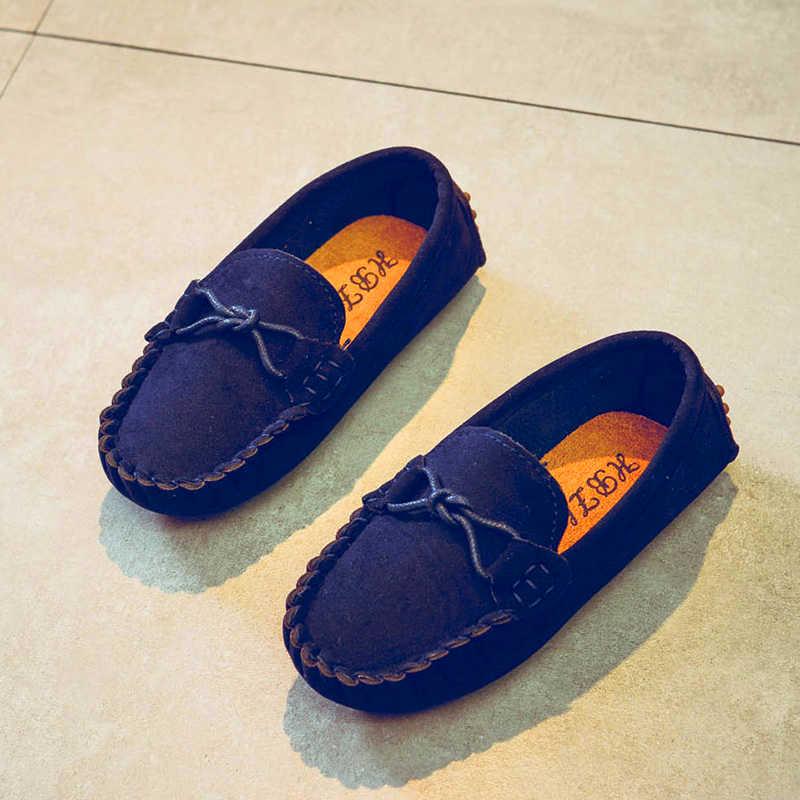 כל גודל 21-35 תינוק פעוט נעלי אביב קיץ ילדים רך עור מפוצל מזדמן נעל סניקרס ילדי בנות מוקסינים נעליים