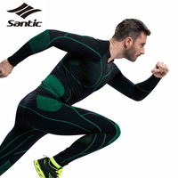 Santic Mens Sport Thermal Underwear Windproof Multi functional GYM MMA Cycling Running Training Fitness Clothing