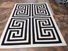 2016 NEW Hot Sale Black And White Acrylic Carpet And Rugs For Home Living  Room Bedroom Kids Room