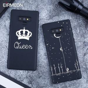 Image 2 - Zwarte Matte Patroon Case Voor Samsung Galaxy A6 Plus 2018 Note 9 A8 S9 S8 Plus S7 Rand A5 A3 a7 J7 J5 J3 2017 Cool lPhone Covers