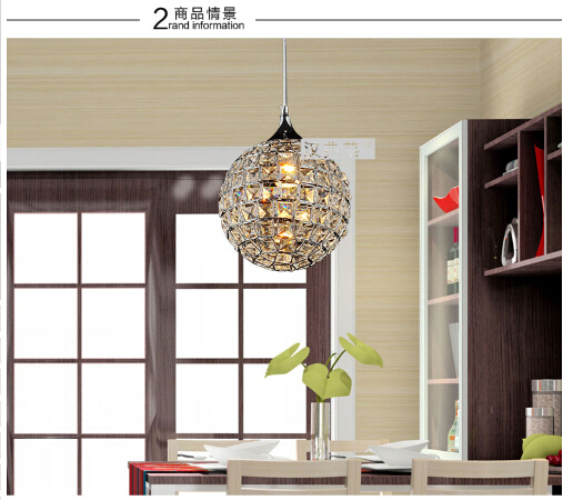 luxurious modern fashion K9 crystal ball Dia 20cm led E27 pendant light living room bedroom dining room aisle shop light 1524 modern fashion luxurious rectangle k9 crystal led e14 e12 6 heads pendant light for living room dining room bar deco 2239