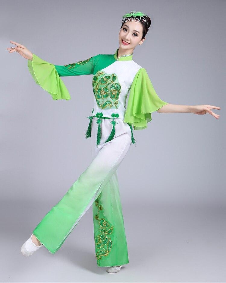 Tarian Tradisional Cina : tarian, tradisional, Tradisional, Kostum, Untuk, Wanita, Hijau, Tarian, Rakyat, Yangko, Nasional, Pakaian|chinese, Dance, Costumes|traditional, Chinese, Costumesdance, Costume, AliExpress