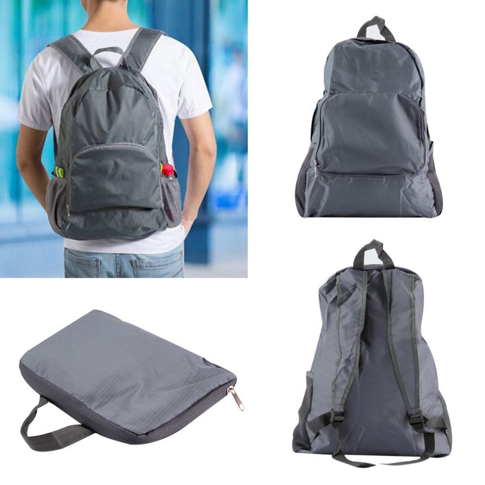 Perjalanan luar Sukan 30L Nylon Dilipat Portable Zipper Perjalanan Hiking Backpack Backpack Beg Bahu