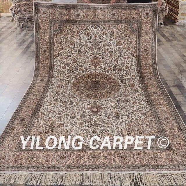 YILONG 6\'x9 \'Vantage persiano fatto a mano tappeto rosa e bianco ...