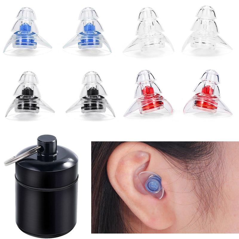 2 Pairs Ear Plugs Soft Silica Gel Foam Sleep Travel Noise Canceling Earplugs