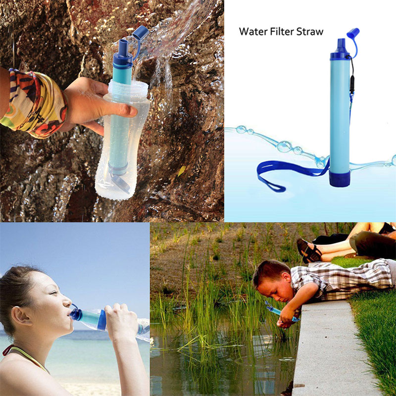 Hot Selling Outdoor Water Purifier Camping Hiking Emergency Life Survival Portable Purifier Water Filter