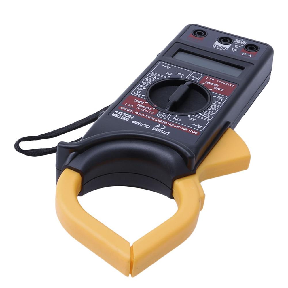 Handheld Digital Clamp Meter Multimeter AC/DC Volt Current Voltage Ohm Tester Resistance Ammeter Insulation Multitester DT266|Clamp Meters| |  - title=